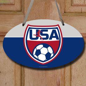 Soccer Oval Sign USA Soccer