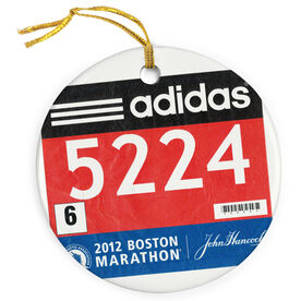 Running Porcelain Ornament Your Race Bib on a Custom (FULL BIB)