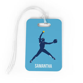 Softball Bag/Luggage Tag - Personalized Softball Pitcher