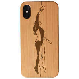 Swimming Engraved Wood IPhone® Case - Female Silhouette