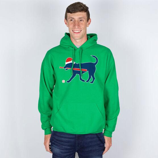 Baseball Standard Sweatshirt Play Ball Christmas Dog