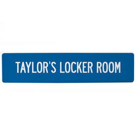 "Personalized Aluminum Room Sign - Personalized Locker Room (4""x18"")"