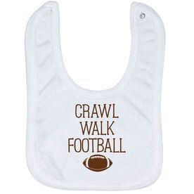 Football Baby Bib - Crawl Walk Football