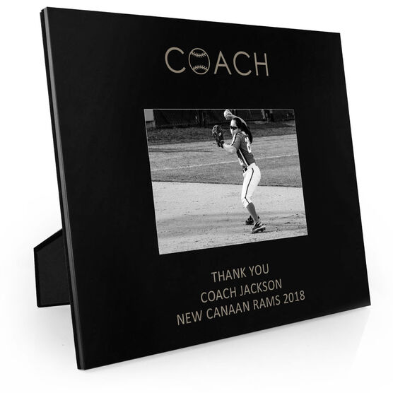 Softball Engraved Picture Frame - Coach