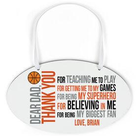 Basketball Oval Sign - Dear Dad