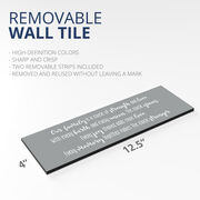 "12.5"" X 4"" Removable Wall Tile - Our Family"