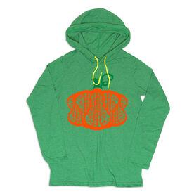 Girls Lacrosse Lightweight Hoodie - Lax Stick Pumpkin