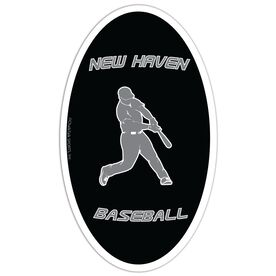 Baseball Oval Car Magnet Personalized Batter