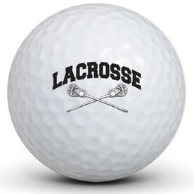 Lacrosse Crossed Sticks Golf Balls