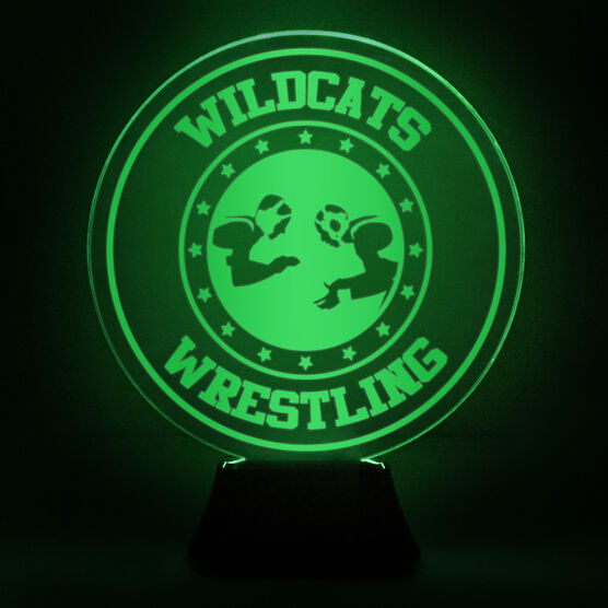 Wrestling Acrylic LED Lamp Takedown With Name