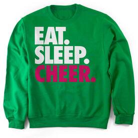 Cheerleading Crew Neck Sweatshirt Eat. Sleep. Cheer.