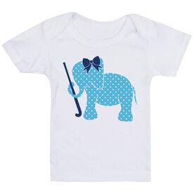 Field Hockey Baby T-Shirt - Field Hockey Elephant with Bow