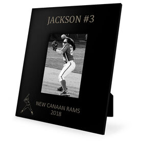 Softball Engraved Picture Frame - Name and Number (Player Silhouette)