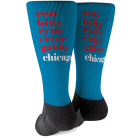 Baseball Printed Mid-Calf Socks - Mantra Chicago