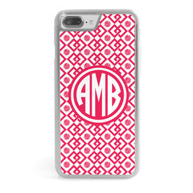 Volleyball iPhone® Case - Monogram Link Pattern