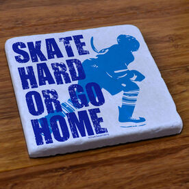 Hockey Stone Coaster Skate Hard Or Go Home