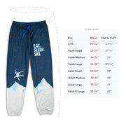 Skiing Lounge Pants - Eat. Sleep. Ski