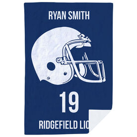 Football Premium Blanket - Personalized Helmet