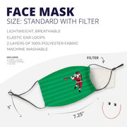 Guys Lacrosse Face Mask - Santa Laxer