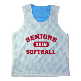 Girls Softball Racerback Pinnie Personalized Seniors Softball Red