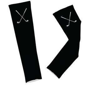 Golf Clubs with Solid Background Arm Sleeves