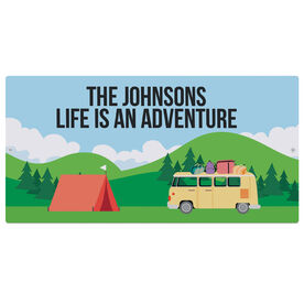 """Personalized Indoor/Outdoor Sign (8"""" x 16"""") - Camping Sign"""