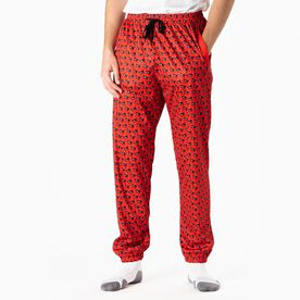 Guys Lacrosse Lounge Pants - Max The Lax Dog