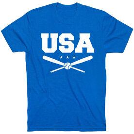 Baseball T-Shirt Short Sleeve - USA Baseball