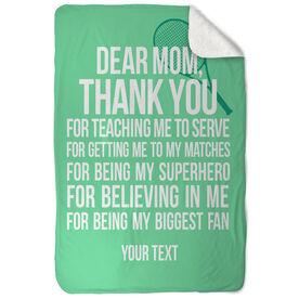 Tennis Sherpa Fleece Blanket Dear Mom