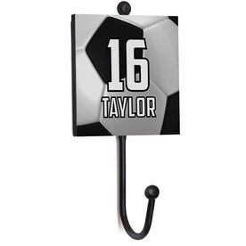 Soccer Medal Hook - Personalized Big Number With Soccer Balls