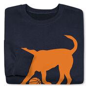 Basketball Crew Neck Sweatshirt - Baxter The Basketball Dog