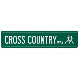 "Cross Country Aluminum Room Sign - Cross Country Way (4""x18"")"