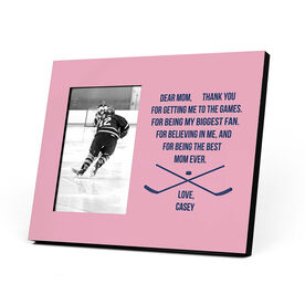 Hockey Photo Frame - Dear Mom Heart