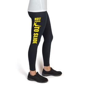 Softball High Print Leggings Not Afraid To Slide
