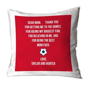 Soccer Throw Pillow - Dear Mom Heart