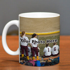 Softball Coffee Mug Thanks Coach Custom Photo