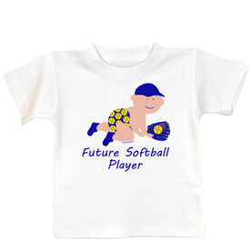 Softball Baby T-Shirt Future Softball Player Boy