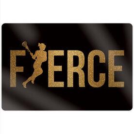 "Girls Lacrosse 18"" X 12"" Aluminum Room Sign - Fierce Glitter"