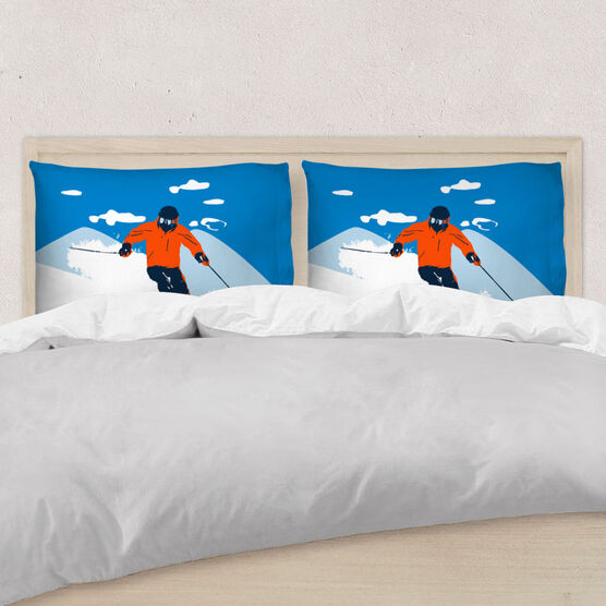 Skiing Pillowcase - Ski Hard