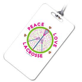 Lacrosse Bag/Luggage Tag Peace Love Lacrosse