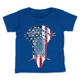 Guys Lacrosse Toddler Short Sleeve Tee - Patriotic Stick