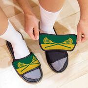 Guys Lacrosse Repwell® Slide Sandals - Colorblock Sticks