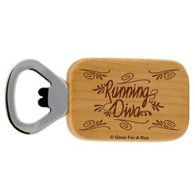 Running Diva Maple Bottle Opener