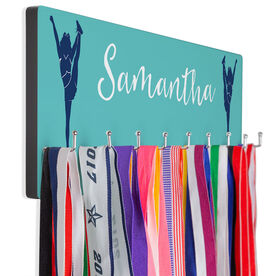 Cheerleading Hooked on Medals Hanger - Personalized Player