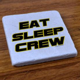 Eat, Sleep, Crew - Stone Coaster
