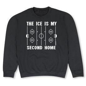 Hockey Crew Neck Sweatshirt - The Ice Is My Second Home