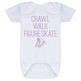 Figure Skating Baby One-Piece - Crawl Walk Figure Skate