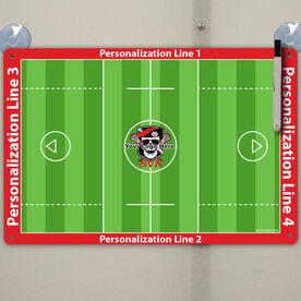 """Lacrosse Custom Dry Erase Coach Board Guys Full Field - 18"""" X 12"""""""