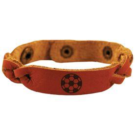 Soccer Ball Leather SportBANDZ Bracelet
