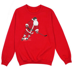 Hockey Crew Neck Sweatshirt - Slap Shot Santa